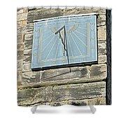 Sundial On St Mary's Church - Tutbury Shower Curtain