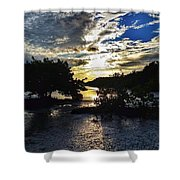 Sundown At Anne's Beach Shower Curtain