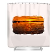 Sundown At Low Tide 2 Shower Curtain
