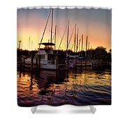 Sundown At The Marina 2 Shower Curtain