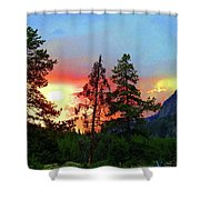 Sundown In Yellowstone Shower Curtain