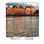 Sundown On The Boardwalk Walt Disney World Shower Curtain