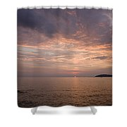 Sundown Over The Adriatic Coastline Shower Curtain