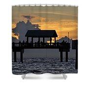 Sundown Pier Shower Curtain