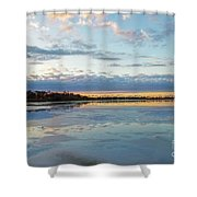Sundown With Water On Ice Shower Curtain