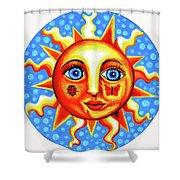 Sunface With Ladybug Shower Curtain