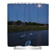 Sunfishes In Moonlight Shower Curtain