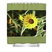 Sunflower-5030-fractal Shower Curtain