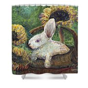 Sunflower Basket Surprise Shower Curtain