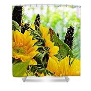 Sunflower Bouquet 2 Shower Curtain