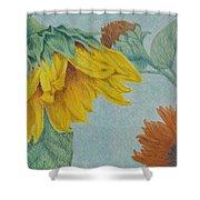 Sunflower Buddies Shower Curtain