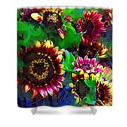 Sunflower Carnival Shower Curtain