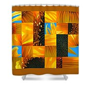 Sunflower Cut-up Shower Curtain