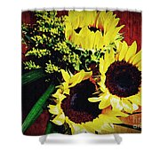 Sunflower Decor 3 Shower Curtain