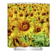 Sunflower Edges Shower Curtain