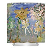 Sunflower Fairies Shower Curtain