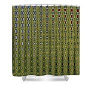 Sunflower Field Abstract Shower Curtain