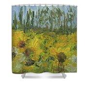 Sunflower Field Shower Curtain