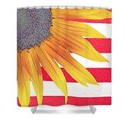 Sunflower Flag Shower Curtain