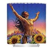 Sunflower - Glorious Success Shower Curtain by Anne Wertheim