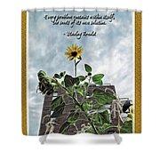 Sunflower Inspiration Shower Curtain