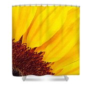 Summer Gold Shower Curtain by Julian Perry
