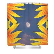 Sunflower Moon Shower Curtain