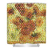 Sunflower Mosaic Shower Curtain