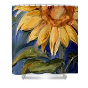 Sunflower Oil Painting Shower Curtain