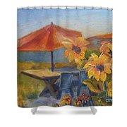 Sunflower Picnic Shower Curtain