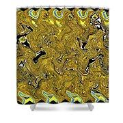 Sunflower Pie Abstract Shower Curtain