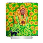 Sunflower Princess Shower Curtain