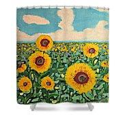 Sunflower Serendipity Shower Curtain