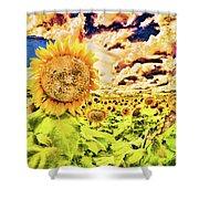 Sunflower Storm Shower Curtain