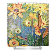 Sunflower Tropics Part 3 Shower Curtain
