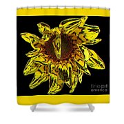 Sunflower With Stone Effect Shower Curtain