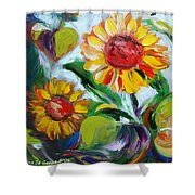 Sunflowers 10 Shower Curtain