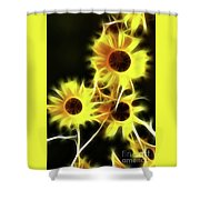 Sunflowers-4955-fractal Shower Curtain