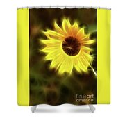 Sunflowers-4986-fractal Shower Curtain
