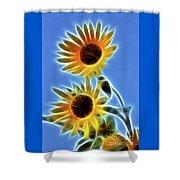 Sunflowers-5246-fractal Shower Curtain