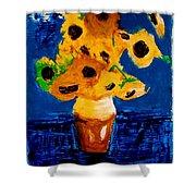 Sunflowers After Vincent Van Gogh Shower Curtain