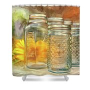 Sunflowers And Jars Shower Curtain