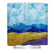 Sunflowers And Lavender In Provence Shower Curtain