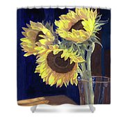 Sunflowers And Light Shower Curtain