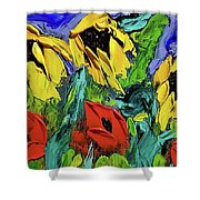 Sunflowers And Poppies - Little Treasures Series Shower Curtain