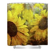 Sunflowers And Water Spots 2773 Idp_2 Shower Curtain