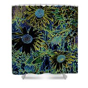 Sunflowers By Wall Shower Curtain