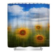Sunflowers Dreamscape Shower Curtain