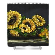 Sunflowers From The Garden Shower Curtain