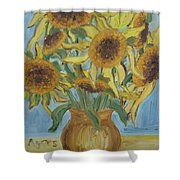 Sunflowers II. Shower Curtain
